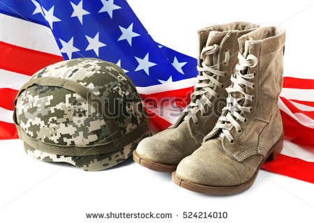 stock-photo-pair-of-combat-boots-military-helmet-and-usa-flag-on-white-background-524214010